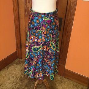 Vintage handmade psychedelic flower child skirt